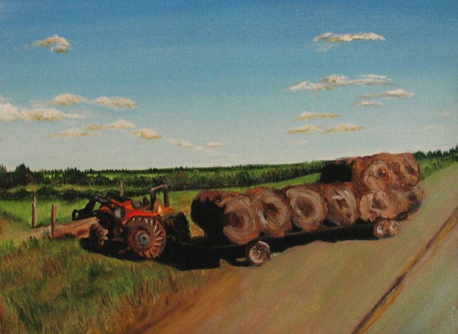 """Hay There"" original fine art by Nan Johnson"