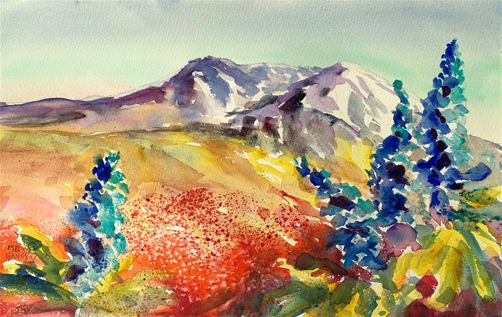 """Flowers at Mt St Helens"" original fine art by Melissa Gannon"