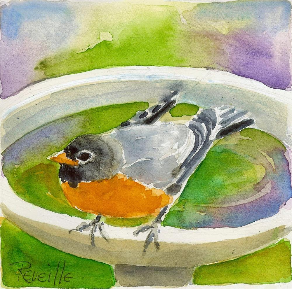 """""""Clean as a Robin's Whistle"""" original fine art by Reveille Kennedy"""