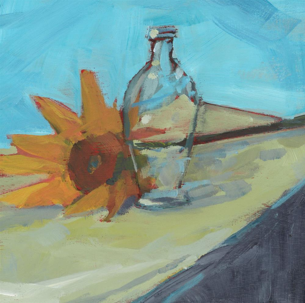 """0916: One Sunflower"" original fine art by Brian Miller"