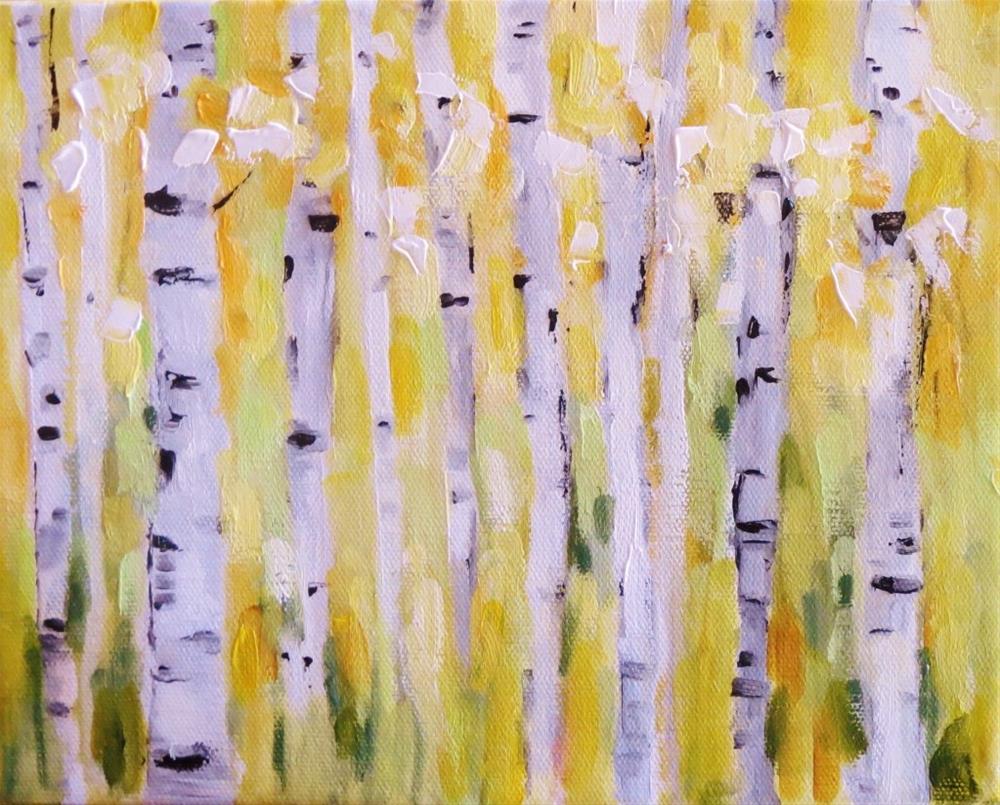 """""""Birch trees"""" original fine art by Astrid Buchhammer"""