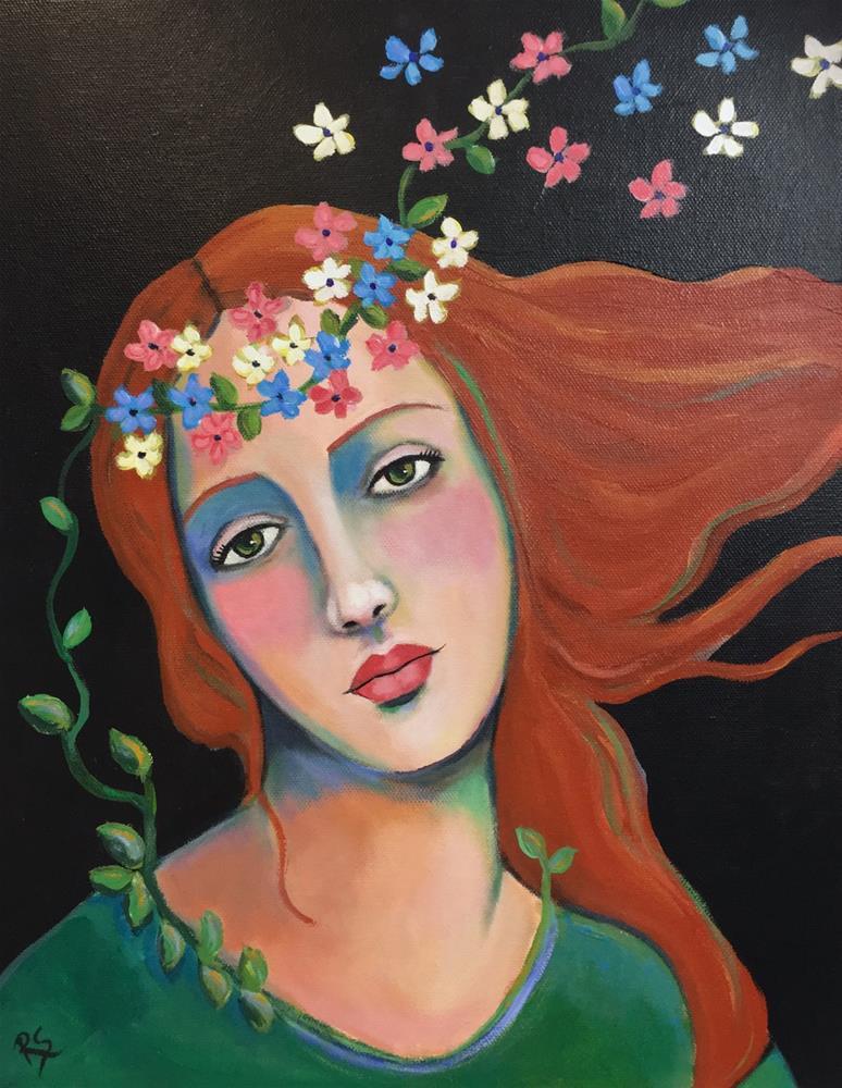 """A Model for Botticelli"" original fine art by Roberta Schmidt ArtcyLucy"