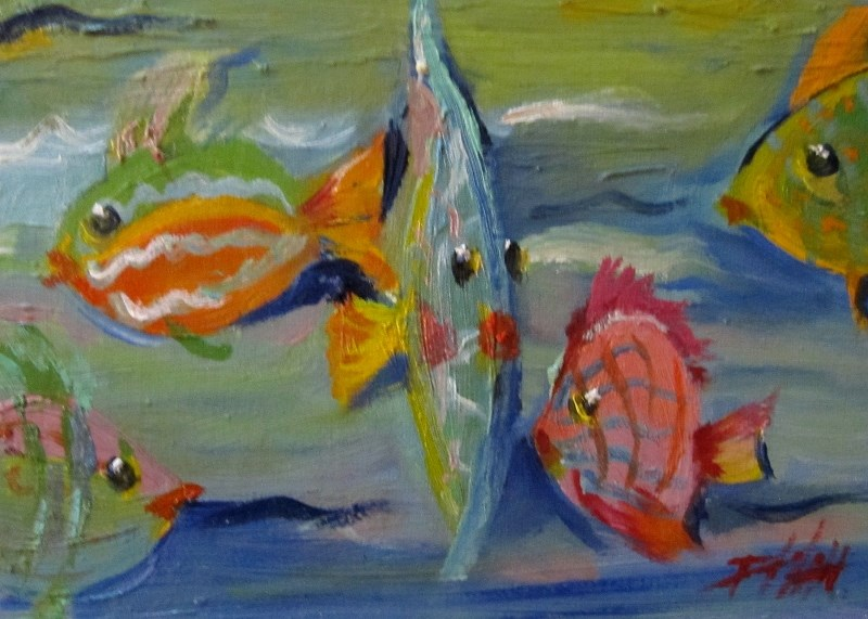 """Tropical Fish"" original fine art by Delilah Smith"