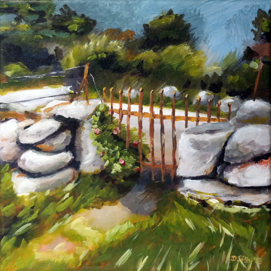 """0783 Another gate"" original fine art by Dietmar Stiller"