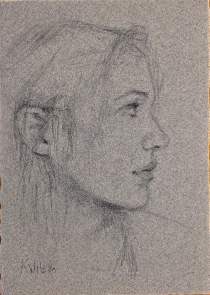 """Drawing 10"" original fine art by Katie Wilson"