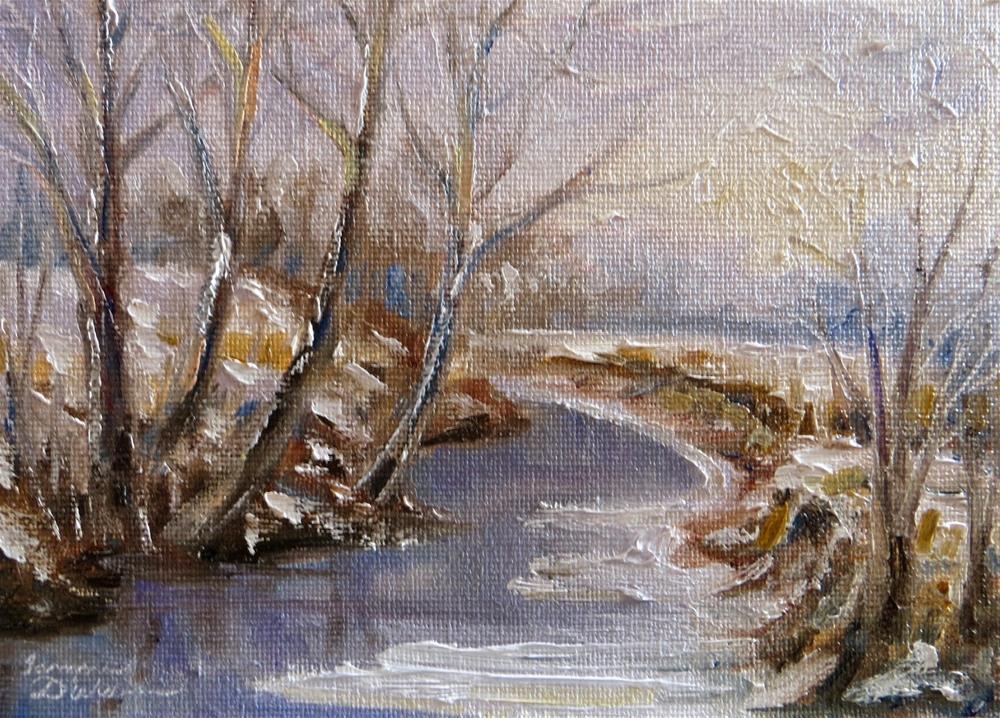 """""""Frozen Creek"""" original fine art by Tammie Dickerson"""