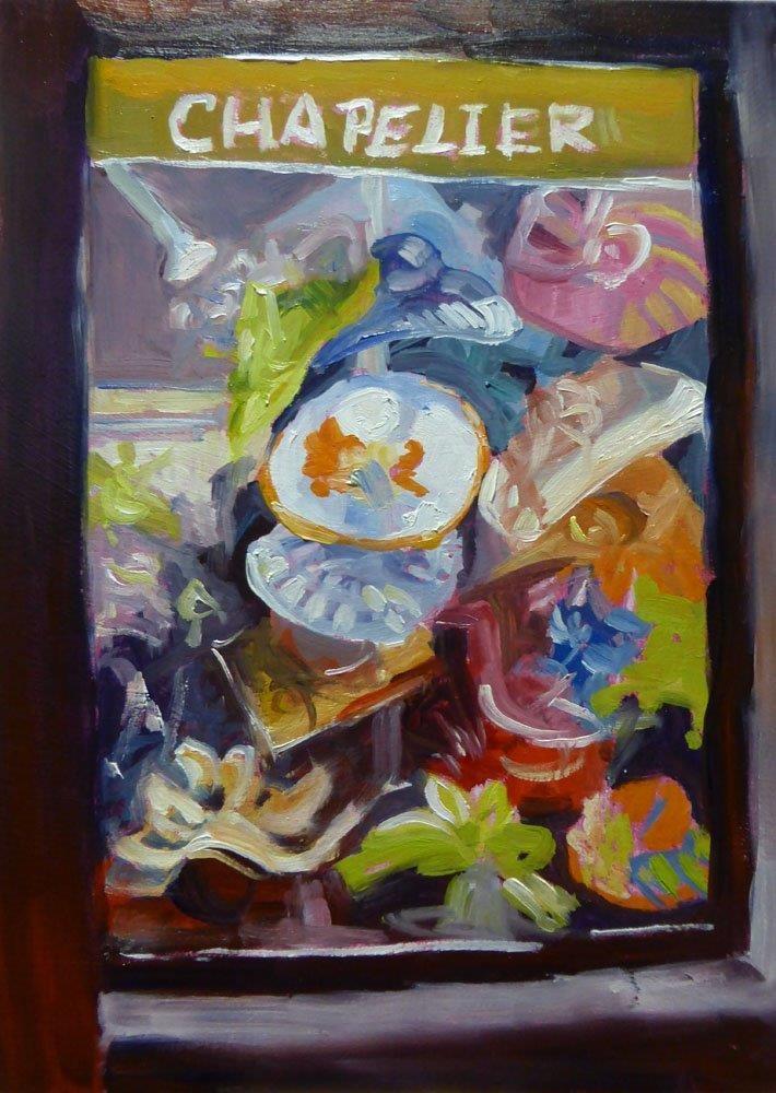 """""""Chapelier - Hats, Hats, Hats"""" original fine art by Carolynn Doan"""