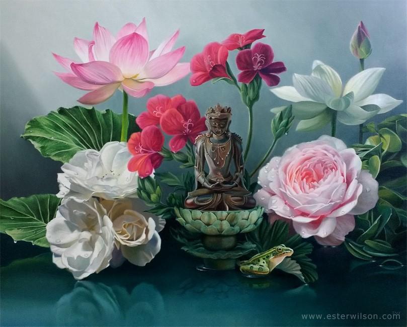 """Reflecting"" original fine art by Ester Wilson"