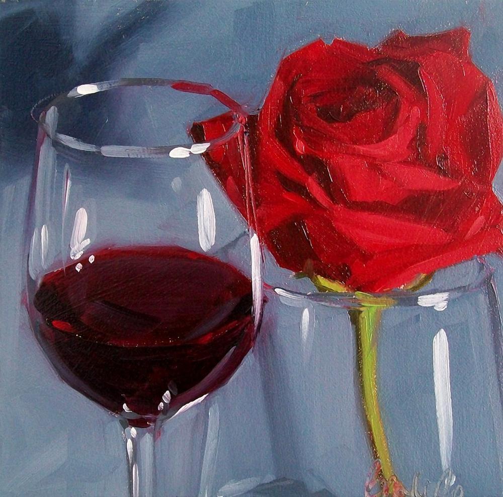 """lovely red"" original fine art by Brandi Bowman"