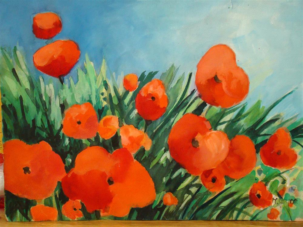 """poppies"" original fine art by meribeth coyne"