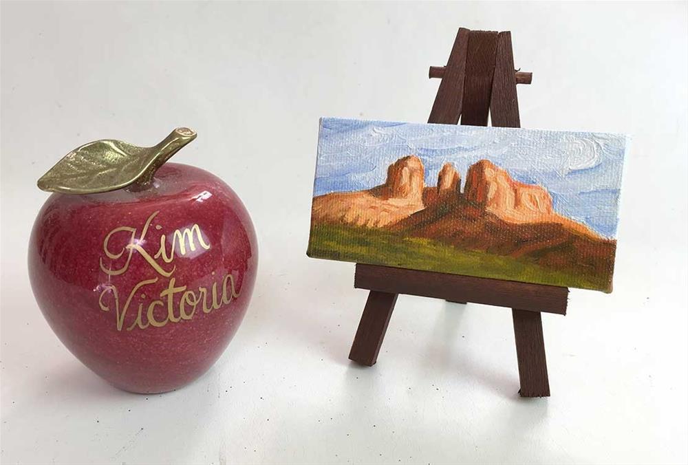 """Cathedral Rock Miniature, Sedona Arizona"" original fine art by Kim Victoria"