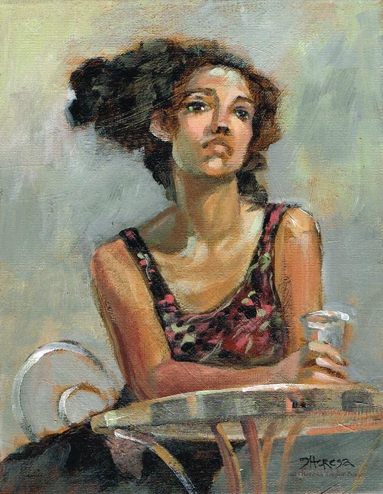 """Tiny Table - Theresa Taylor Bayer"" original fine art by Theresa Taylor Bayer"