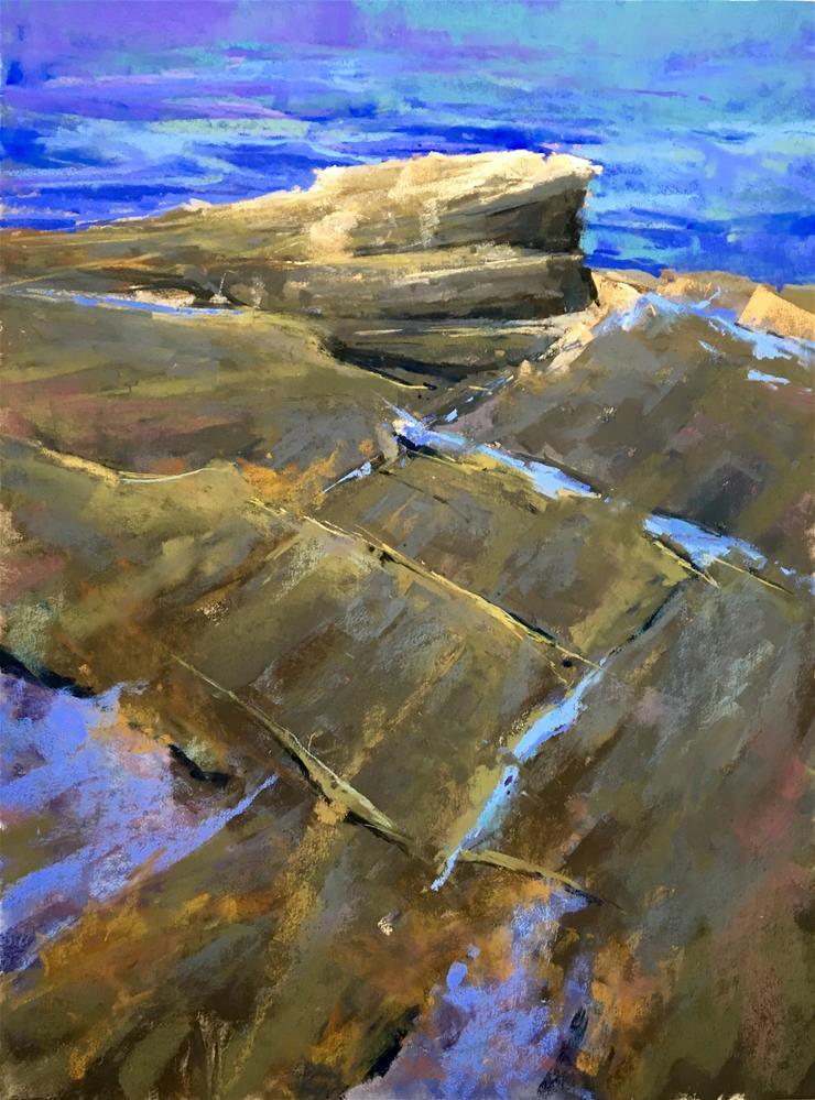 """""""Deep Blues at Prout's Neck"""" original fine art by Jacob Aguiar"""