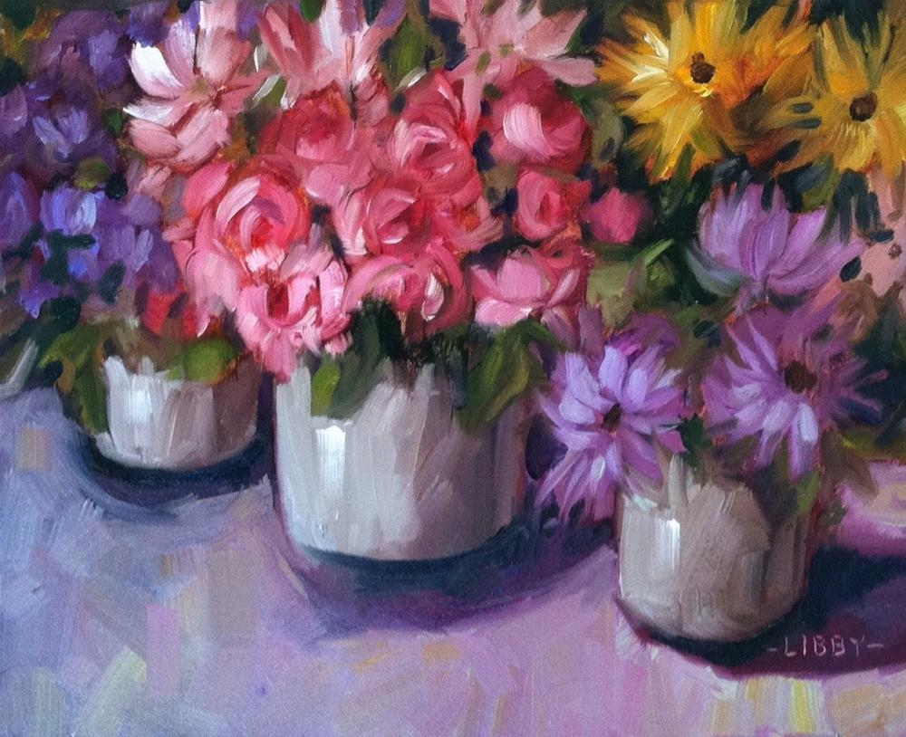 """""""Paris Market Flowers"""" original fine art by Libby Anderson"""