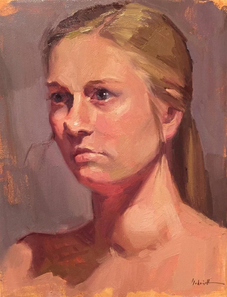 """""""The Shadow of Her Face"""" original fine art by Sarah Sedwick"""