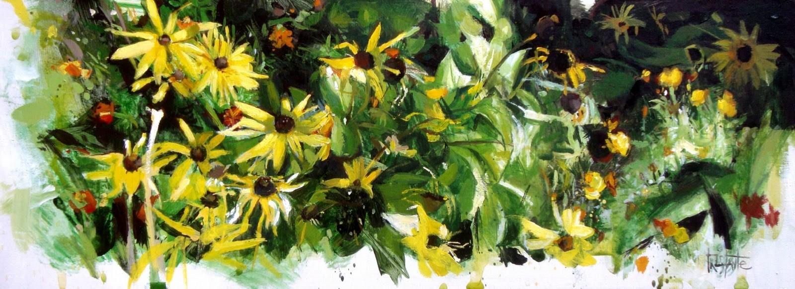 """""""Landscape of daisies"""" original fine art by Víctor Tristante"""