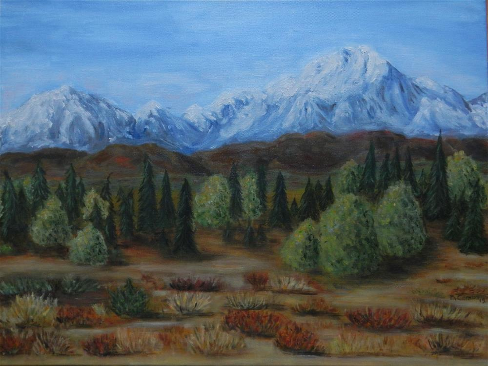 """Denali View"" original fine art by Bebe Combs"