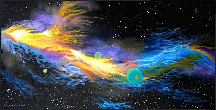 """""""Fire Dragon Nebula"""" original fine art by Patricia Ann Rizzo"""