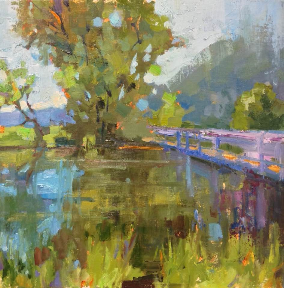 """Beaver Pond"" original fine art by Emiliya Lane"