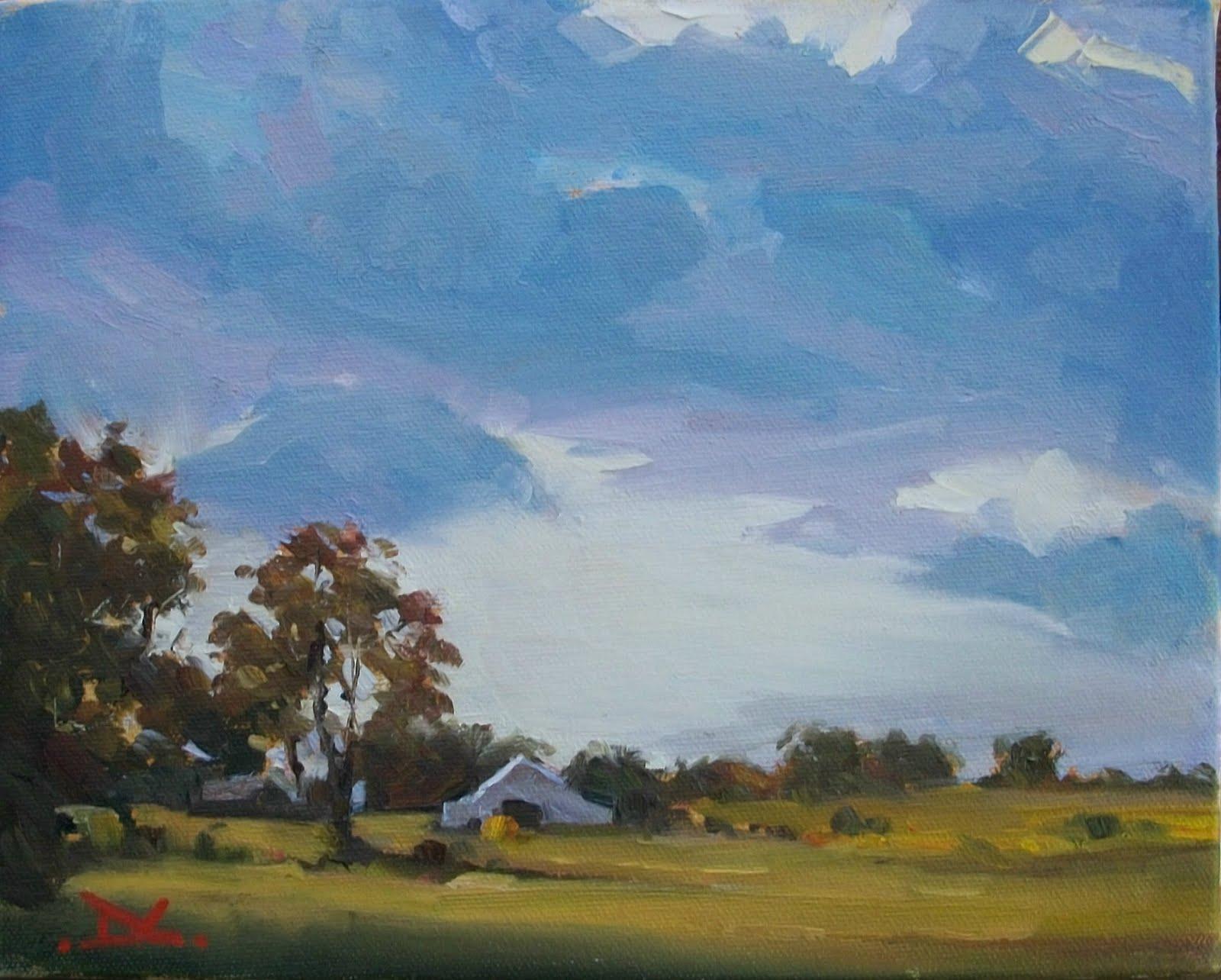 """""""Blue Clouds White Sky #102"""" original fine art by Doug Carter"""