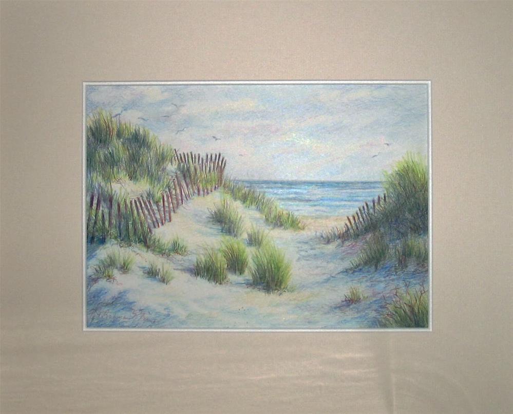 """Cape Cod Dunes"" original fine art by Vikki Bouffard"