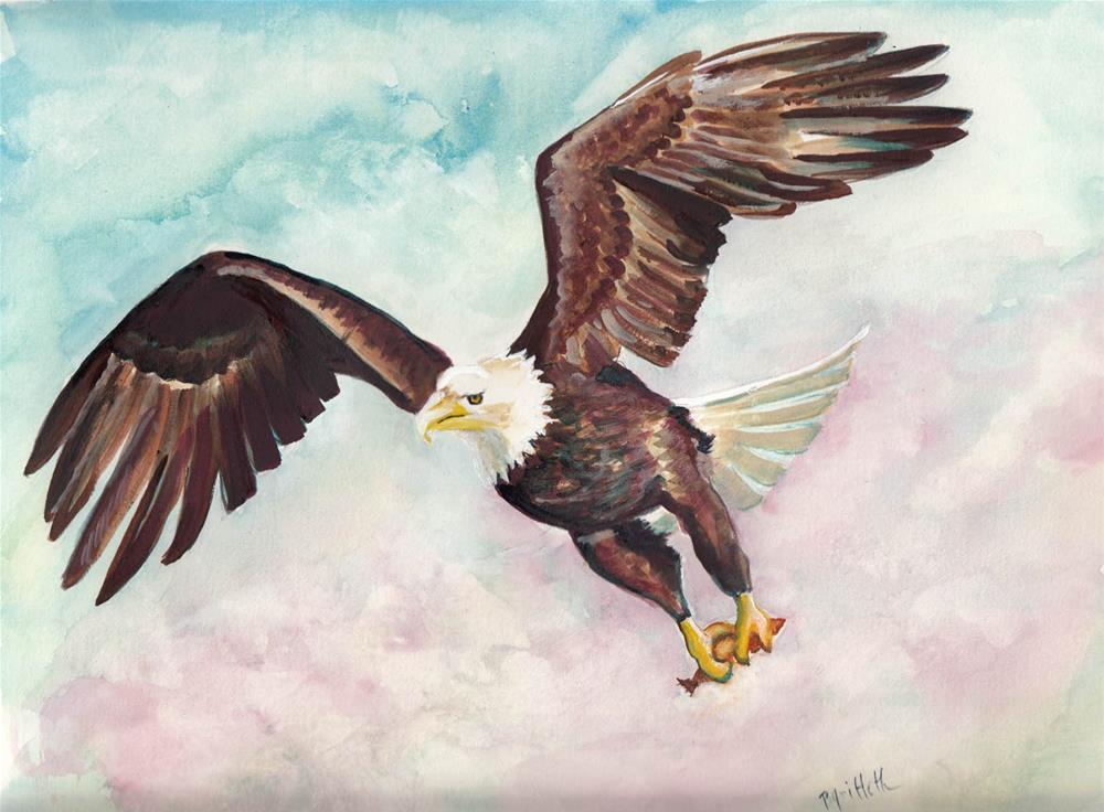 """""""Eagle"""" original fine art by Bunny Griffeth"""