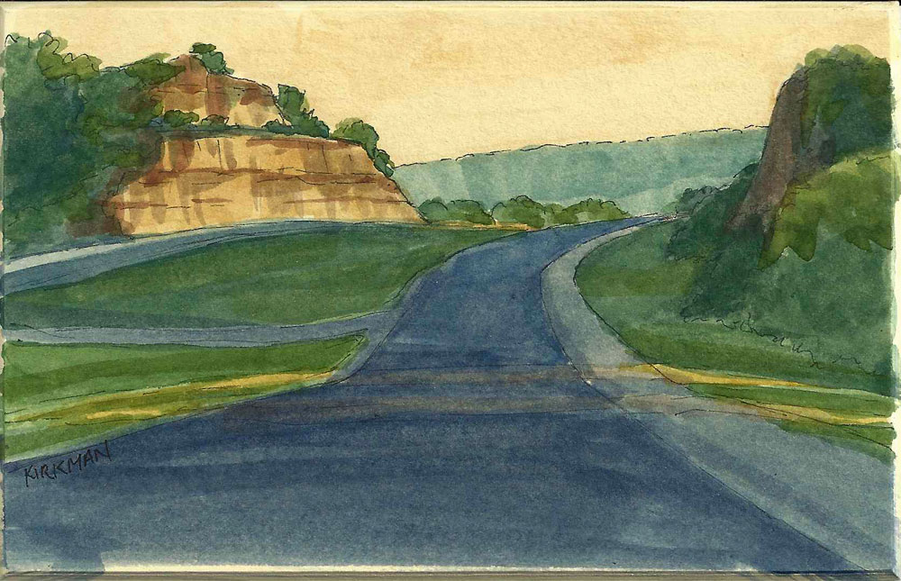 """Road Sketch 8"" original fine art by Rita Kirkman"
