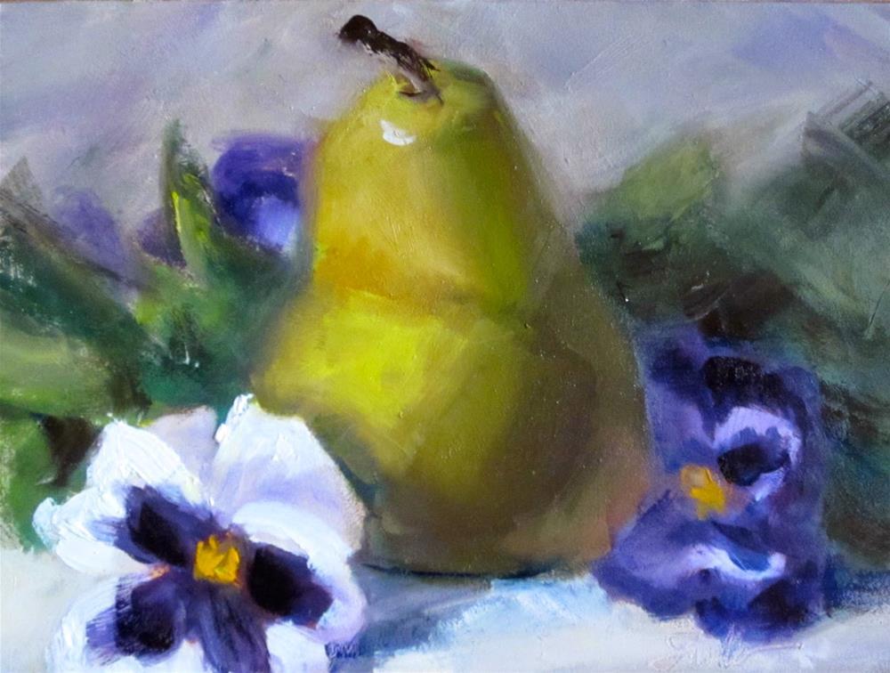 """""""A Pear and A Pair"""" original fine art by Pat Fiorello"""