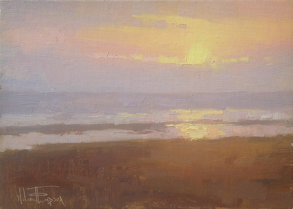"""Last Light"" original fine art by Melanie Thompson"