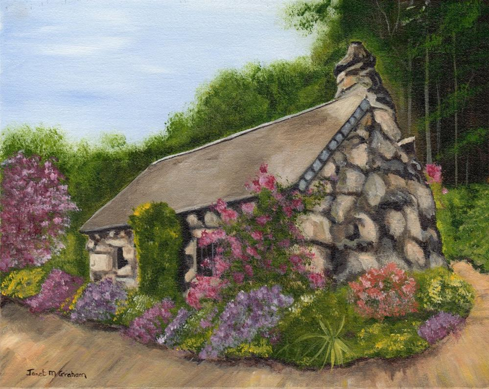 """Country Home"" original fine art by Janet Graham"
