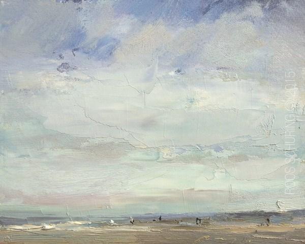 """Seascape Morning Breeze Wide Sky"" original fine art by Roos Schuring"