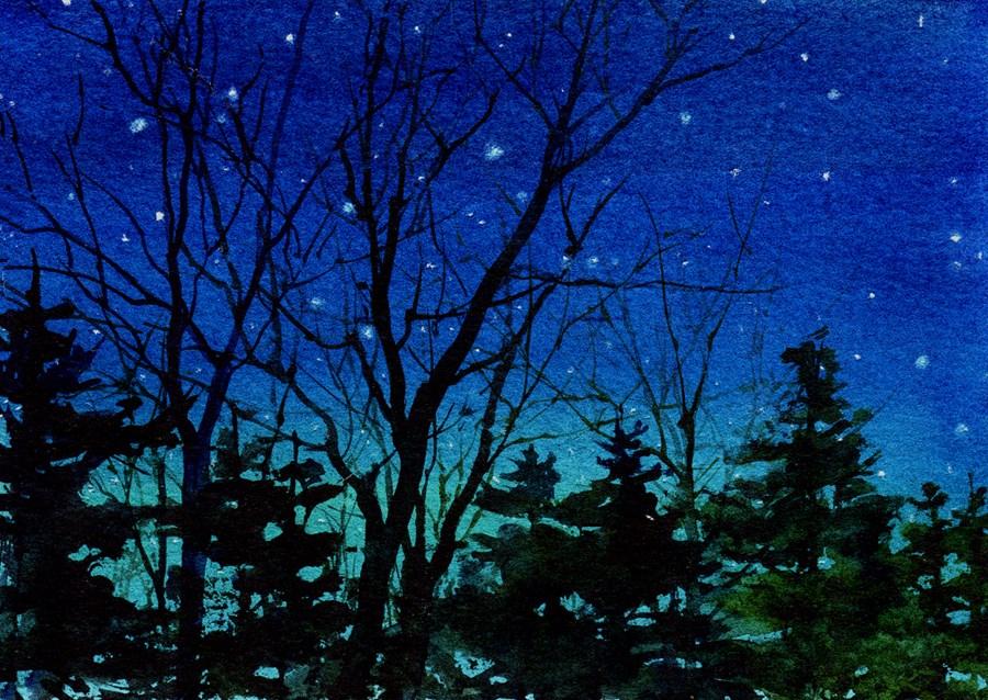 """""""Starlight"""" original fine art by Linda Henry"""
