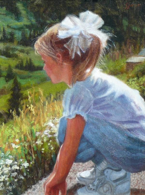 """Counting Caterpillars"" original fine art by Susan N Jarvis"