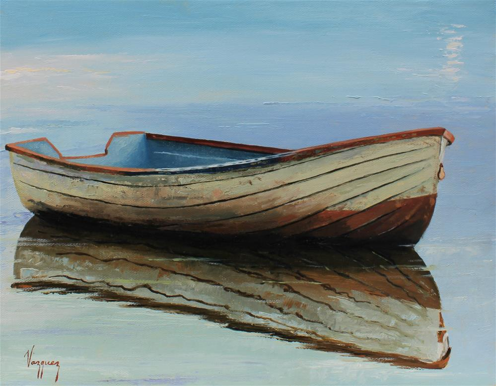 """Old boat"" original fine art by Marco Vazquez"