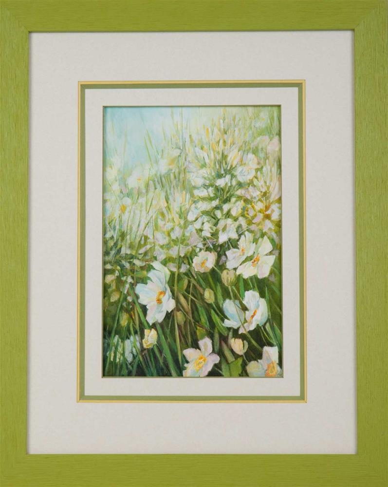 """""""White wildflowers"""" original fine art by Olga Touboltseva-Lefort"""