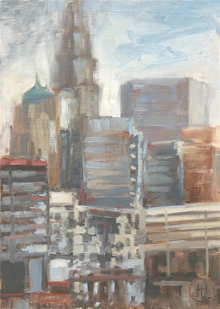 """uptown view"" original fine art by Dottie  T  Leatherwood"