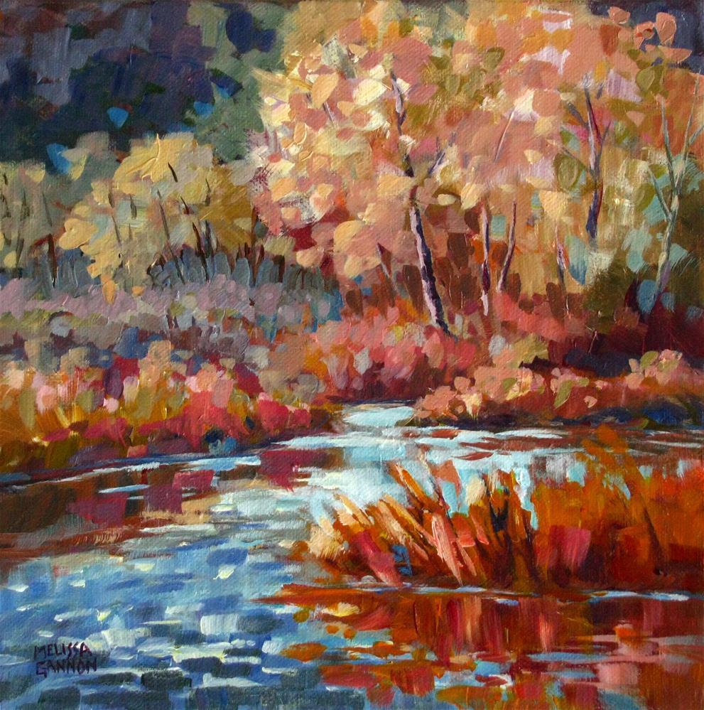 """Colors by the River"" original fine art by Melissa Gannon"