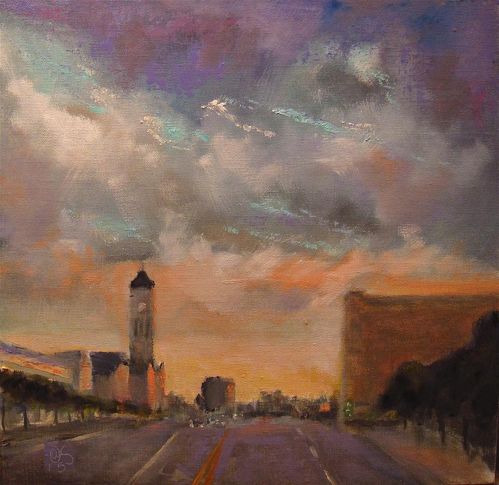 """Evening in Nashville"" original fine art by Aurelio Saiz"