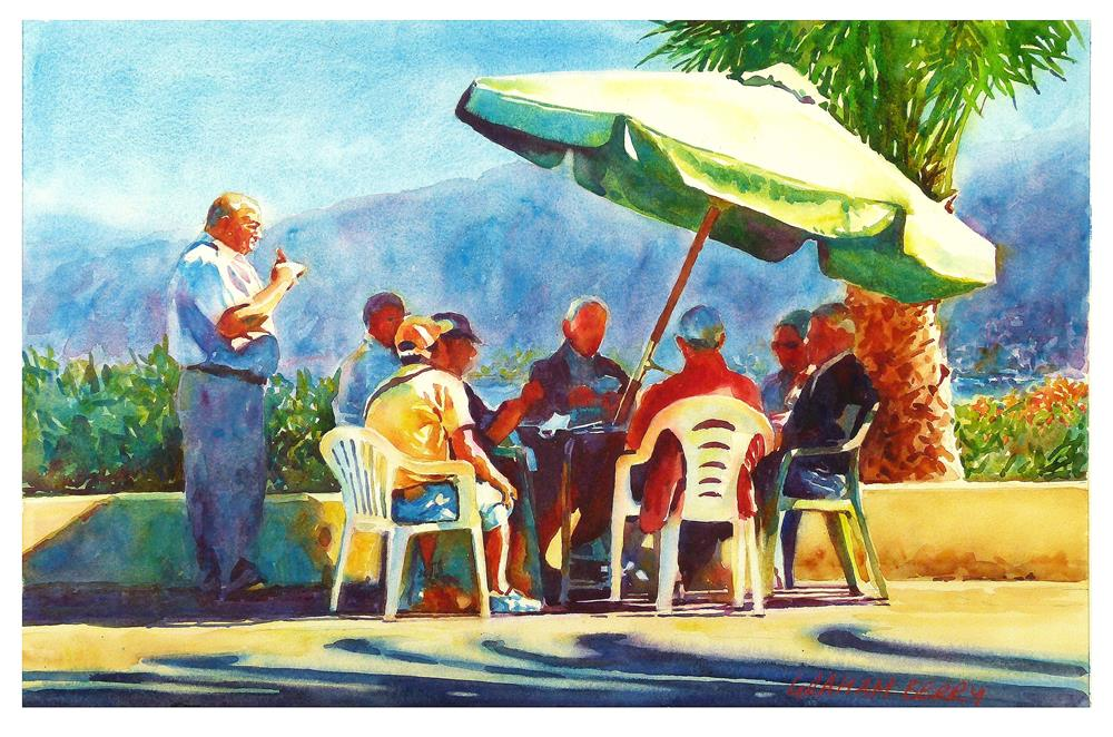 """""""Cards in the sun."""" original fine art by Graham Berry"""