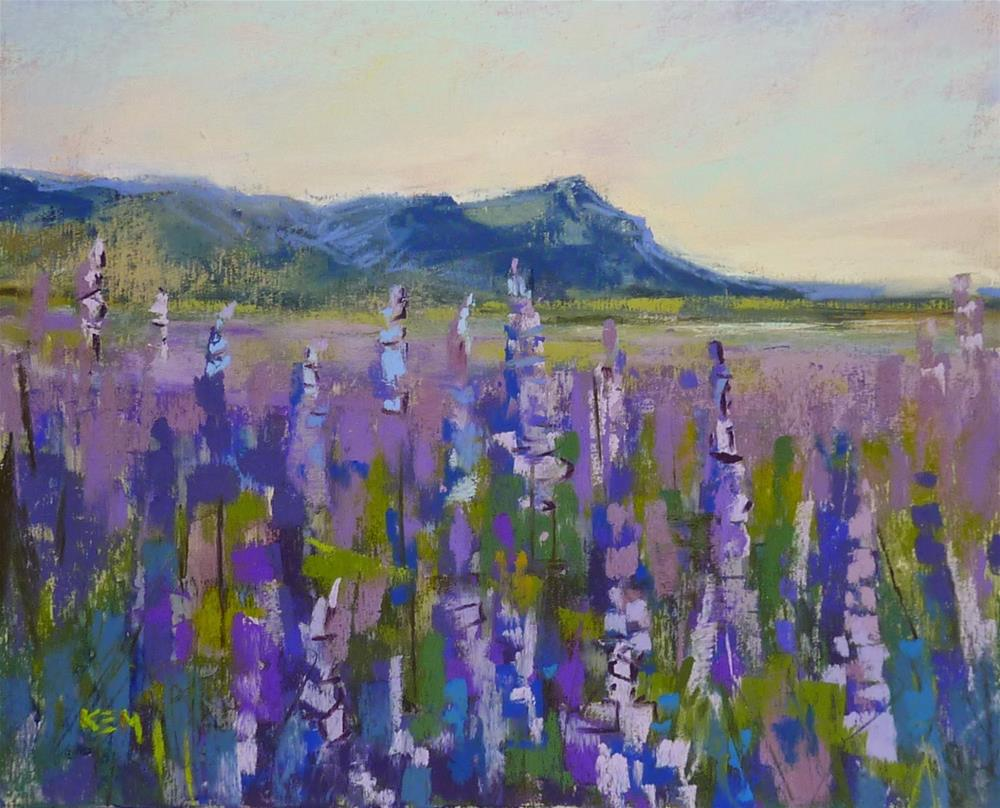"""Iceland: Through the Eye's of an Artist part 7 How to Paint the Lupines"" original fine art by Karen Margulis"