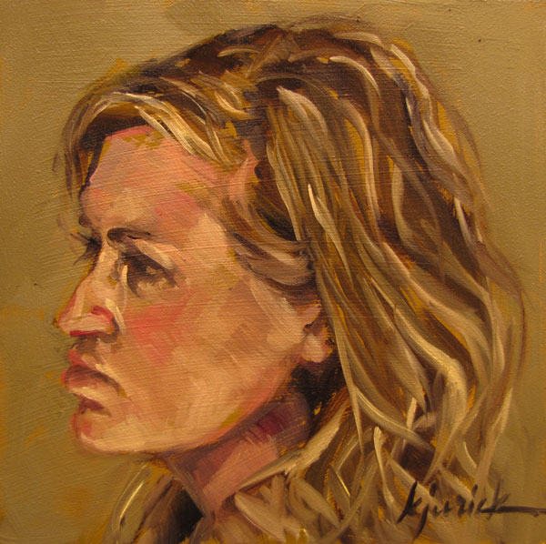 """100 Faces, No. 43"" original fine art by Karin Jurick"