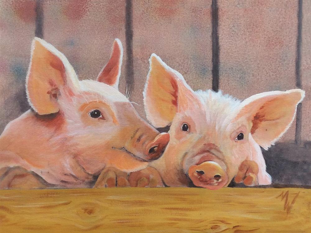 """""""Gossip"""" original fine art by Michelle Wolfe"""