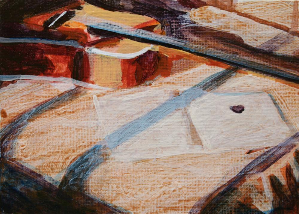 """""""Guitar on a Bed"""" original fine art by Chris Breier"""