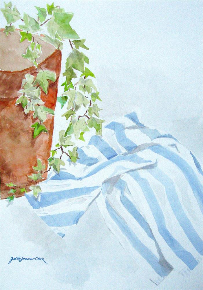 """Ivy with Tea Towel"" original fine art by Judith Freeman Clark"