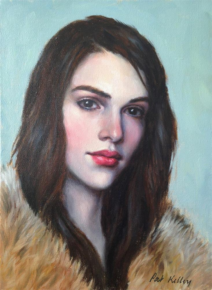 """Portrait Study of a Young Woman"" original fine art by Pat Kelley"
