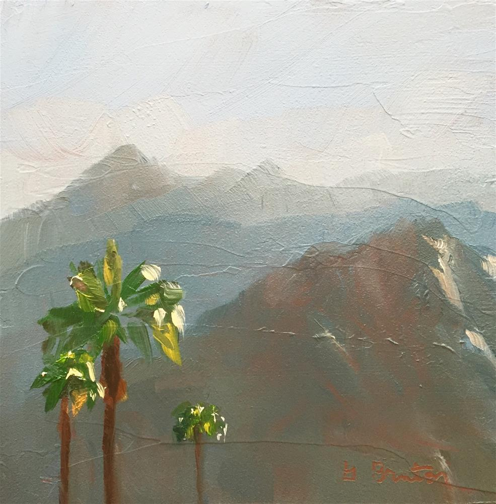"""""""Mountains South of Palm Springs"""" original fine art by Gary Bruton"""
