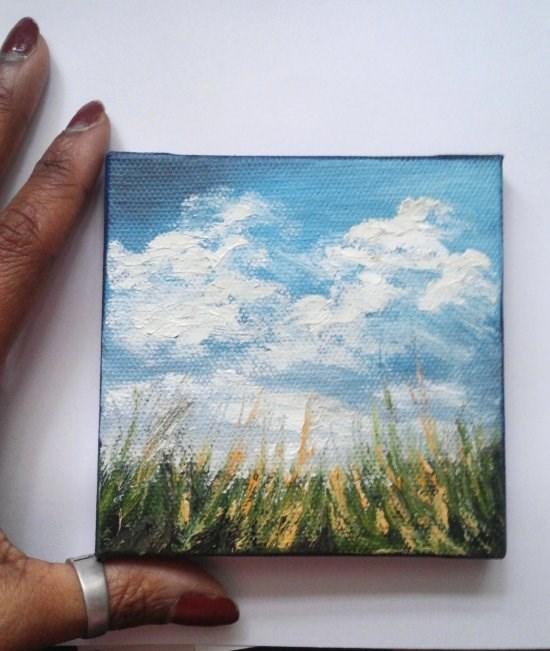 """Sky"" original fine art by Camille Morgan"