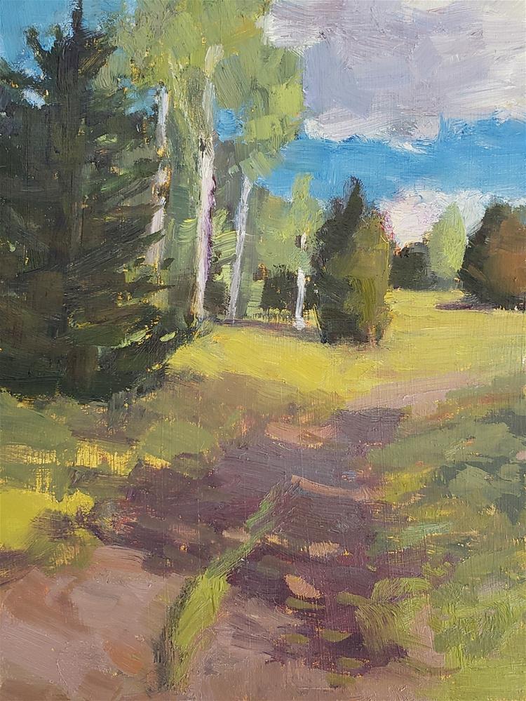 """Aspen Trail"" original fine art by Barbie Smith"