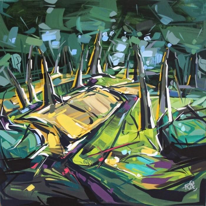 """Landscape Exploration 16"" original fine art by Roger Akesson"