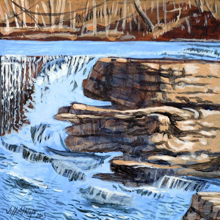 """Duck River Rocks and Water"" original fine art by Jeff Atnip"